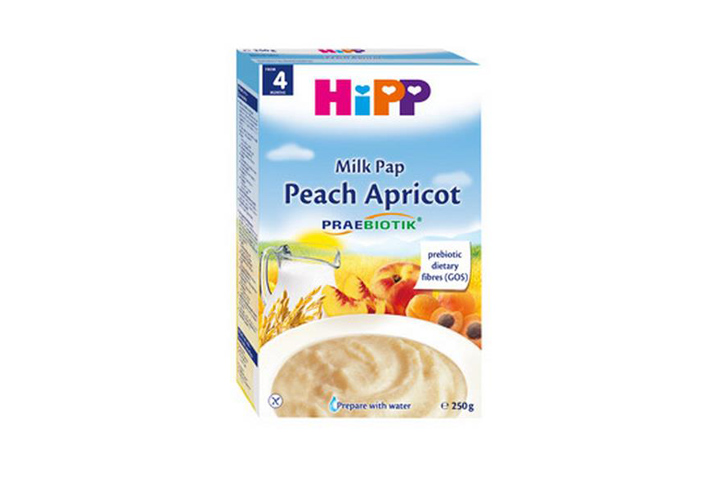 HiPP Milk Pap Peach Apricot有機奶米粉蜜桃杏脯250克 AL2983-C