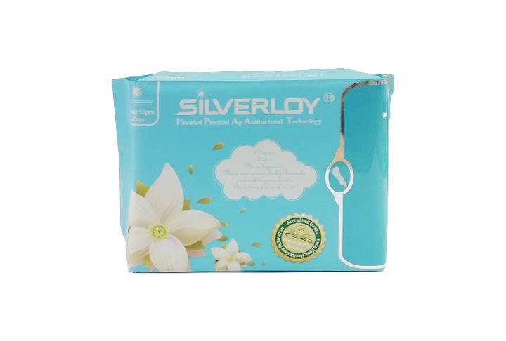 Silverloy物理銀微子抗菌 日用衛生巾10片